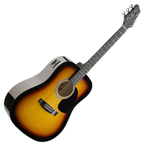 Elektro-akustická kytara Stagg SW201SB-VT