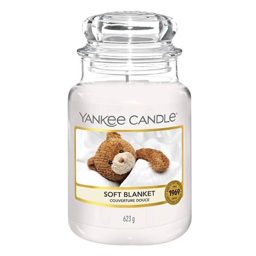 Svíčka ve skleněné dóze Yankee Candle Jemná přikrývka, 623 g
