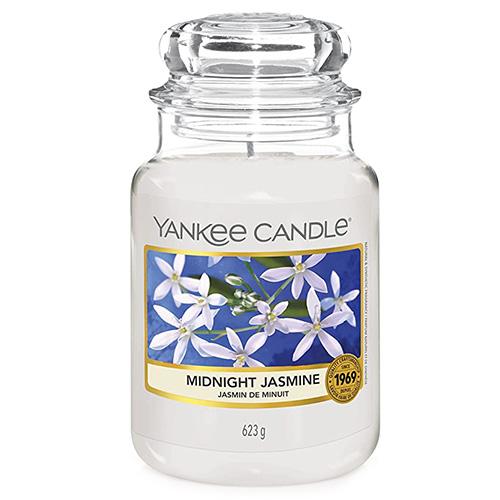 Svíčka ve skleněné dóze Yankee Candle Půlnoční jasmín, 623 g