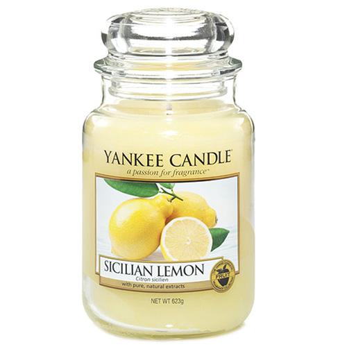 Svíčka ve skleněné dóze Yankee Candle Sicilský citrón, 623 g