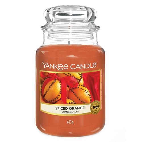 Svíčka ve skleněné dóze Yankee Candle Pomeranč se špetkou koření, 623 g
