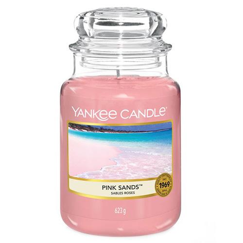Svíčka ve skleněné dóze Yankee Candle Růžové písky, 623 g