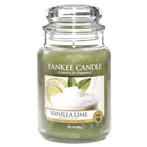 Svíčka ve skleněné dóze Yankee Candle Vanilka s limetkami, 623 g