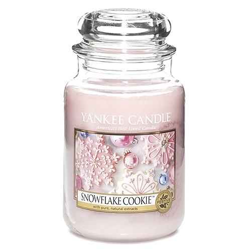 Svíčka ve skleněné dóze Yankee Candle Cukrová vločka, 623 g