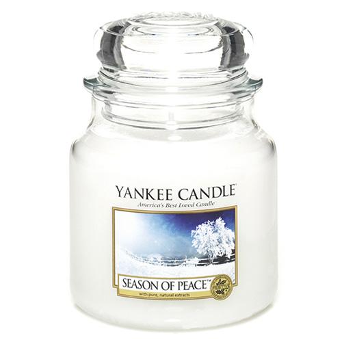 Svíčka ve skleněné dóze Yankee Candle Období míru, 410 g