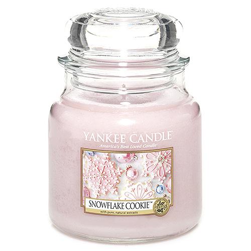 Svíčka ve skleněné dóze Yankee Candle Cukrová vločka, 410 g