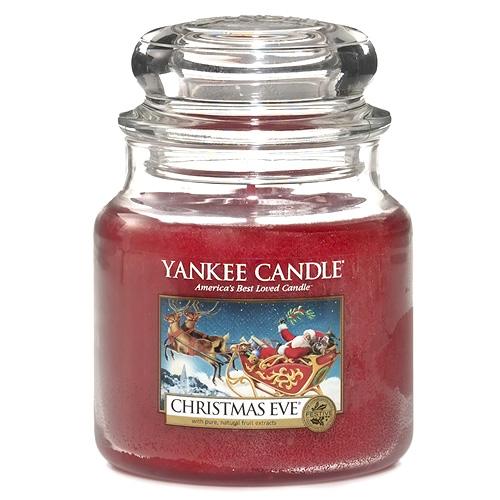 Svíčka ve skleněné dóze Yankee Candle Štědrý večer, 410 g