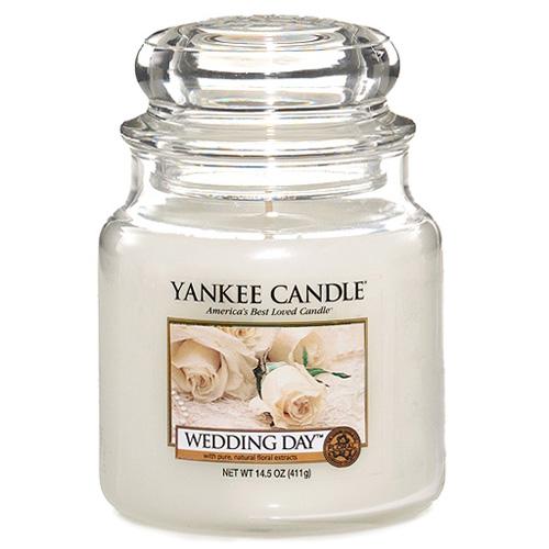 Svíčka ve skleněné dóze Yankee Candle Svatební den, 410 g
