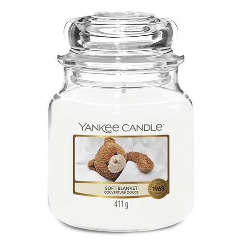 Svíčka ve skleněné dóze Yankee Candle Jemná přikrývka, 410 g