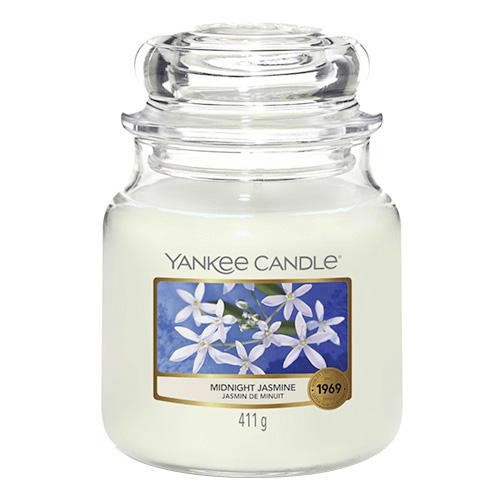Svíčka ve skleněné dóze Yankee Candle Půlnoční jasmín, 410 g