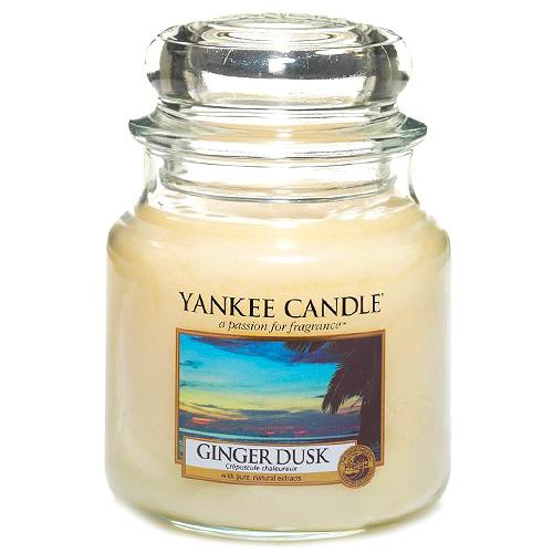 Svíčka ve skleněné dóze Yankee Candle Zázvorový soumrak, 410 g