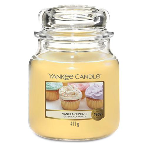 Svíčka ve skleněné dóze Yankee Candle Vanilkový košíček, 410 g