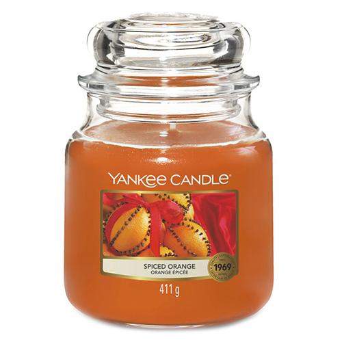 Svíčka ve skleněné dóze Yankee Candle Pomeranč se špetkou koření, 410 g