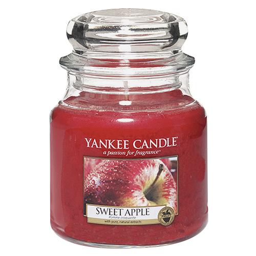 Svíčka ve skleněné dóze Yankee Candle Sladké jablko, 410 g