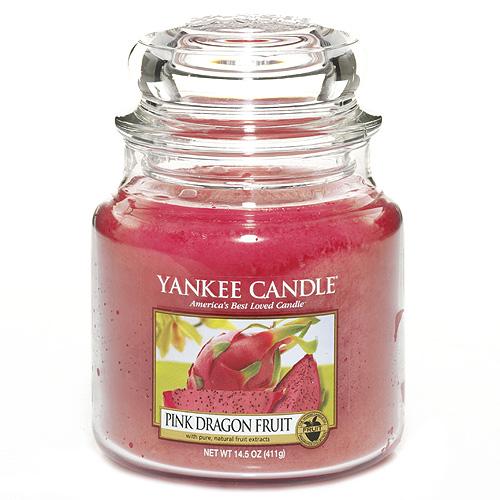 Svíčka ve skleněné dóze Yankee Candle Růžový Dračí plod, 410 g