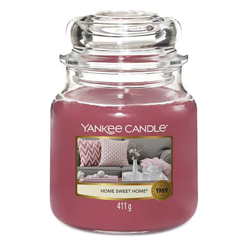 Svíčka ve skleněné dóze Yankee Candle Ó sladký domove, 410 g