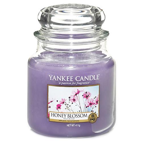 Svíčka ve skleněné dóze Yankee Candle Medový kvítek, 410 g