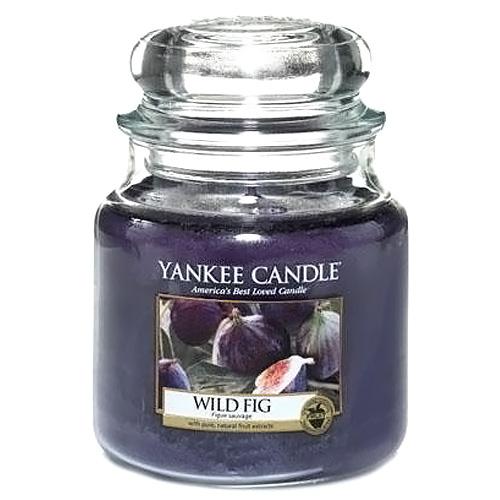 Svíčka ve skleněné dóze Yankee Candle Divoký fík, 410 g