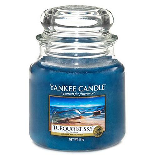 Svíčka ve skleněné dóze Yankee Candle Tyrkysová obloha, 410 g