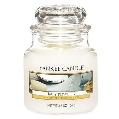 Svíčka ve skleněné dóze Yankee Candle Dětský pudr, 104 g
