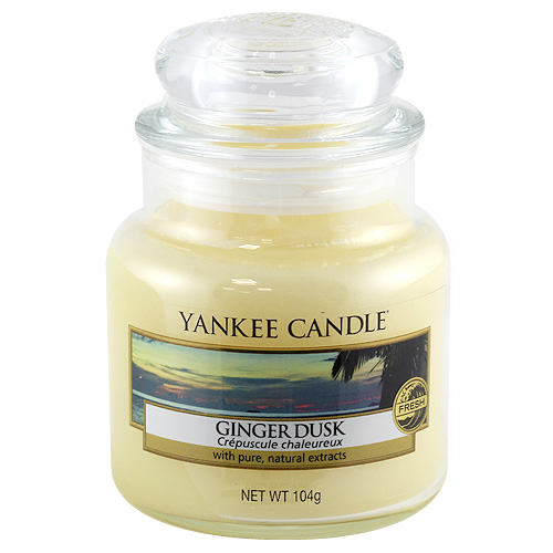 Svíčka ve skleněné dóze Yankee Candle Zázvorový soumrak, 104 g