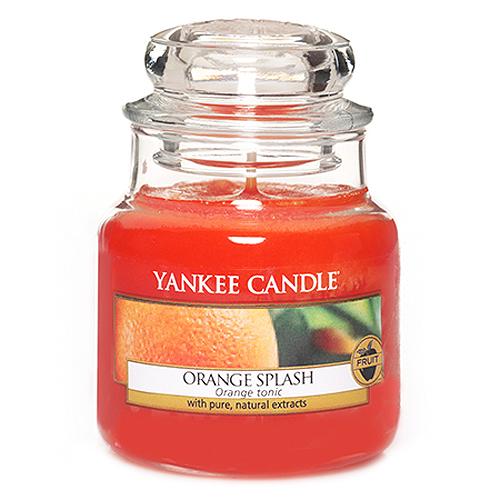 Svíčka ve skleněné dóze Yankee Candle Pomerančová šťáva, 104 g