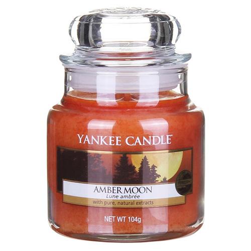 Svíčka ve skleněné dóze Yankee Candle Jantarový měsíc, 104 g