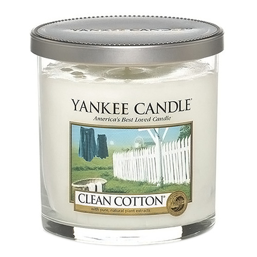 Svíčka ve skleněném válci Yankee Candle Čistá bavlna, 198 g