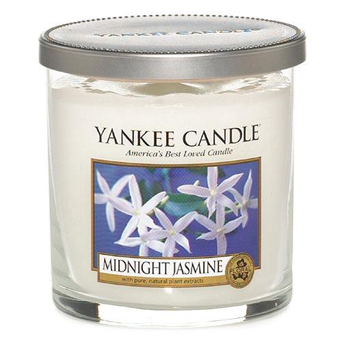 Svíčka ve skleněném válci Yankee Candle Půlnoční jasmín, 198 g