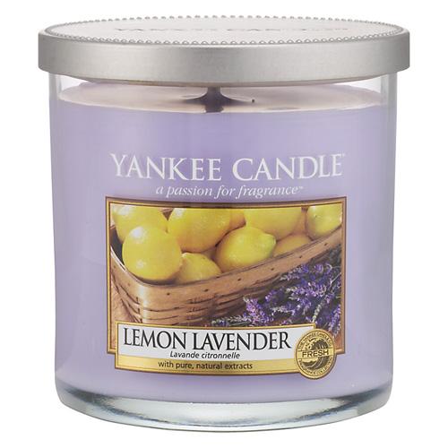 Svíčka ve skleněném válci Yankee Candle Citrón a levandule, 198 g