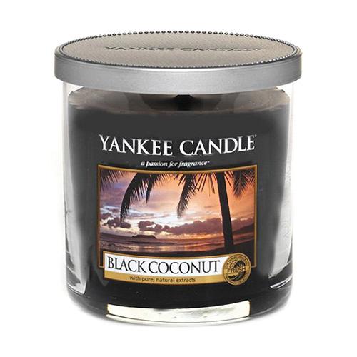 Svíčka ve skleněném válci Yankee Candle Černý kokos, 198 g