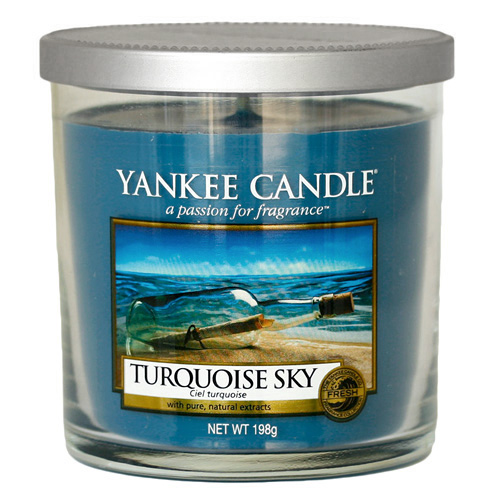 Svíčka ve skleněném válci Yankee Candle Tyrkysová obloha, 198 g