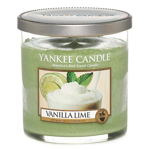 Svíčka ve skleněném válci Yankee Candle Vanilka s limetkami, 198 g