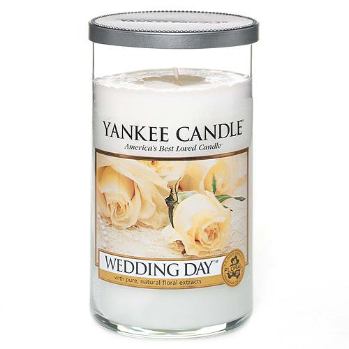 Svíčka ve skleněném válci Yankee Candle Svatební den, 340 g