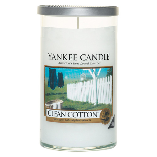 Svíčka ve skleněném válci Yankee Candle Čistá bavlna, 340 g