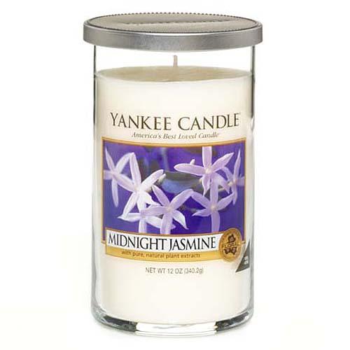 Svíčka ve skleněném válci Yankee Candle Půlnoční jasmín, 340 g