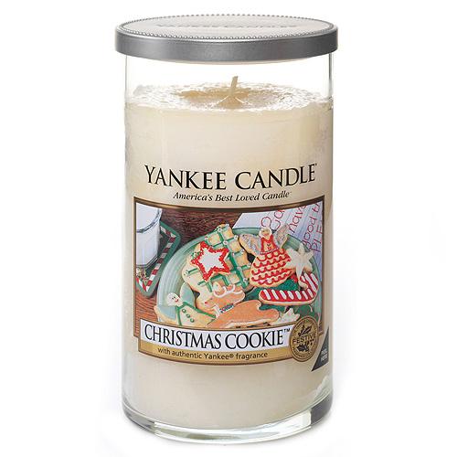 Svíčka ve skleněném válci Yankee Candle Vánoční cukroví, 340 g