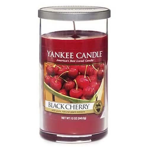 Svíčka ve skleněném válci Yankee Candle Zralé třešně, 340 g