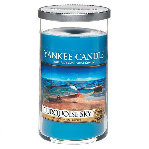 Svíčka ve skleněném válci Yankee Candle Tyrkysová obloha, 340 g