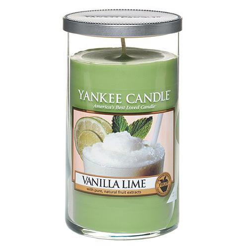 Svíčka ve skleněném válci Yankee Candle Vanilka s limetkami, 340 g