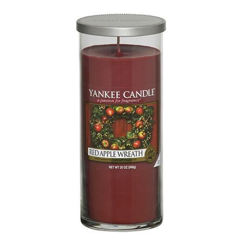 Svíčka ve skleněném válci Yankee Candle Věnec z červených jablek, 566 g
