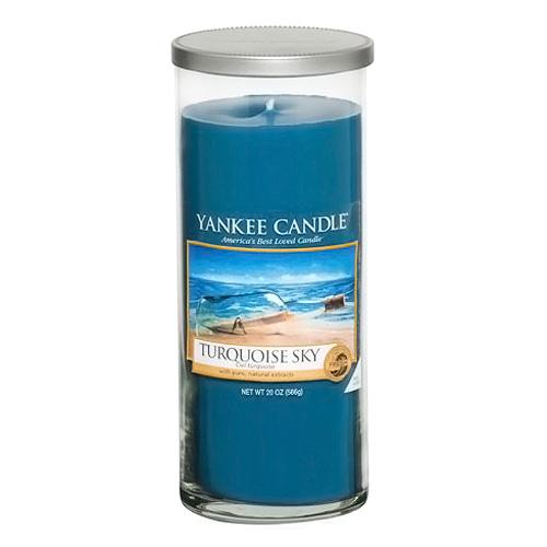 Svíčka ve skleněném válci Yankee Candle Tyrkysová obloha, 566 g