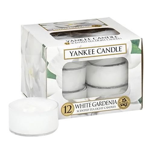 Svíčky čajové Yankee Candle Bílá gardénie,   12 ks