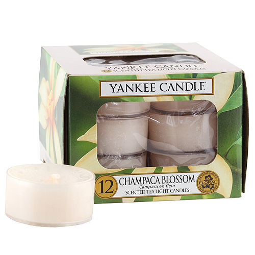 Svíčky čajové Yankee Candle Květ magnólie champaca,   12 ks
