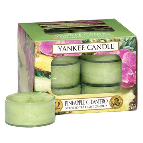 Svíčky čajové Yankee Candle Ananas s koriandrem, 12 ks