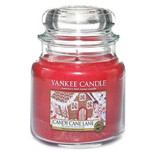Svíčka ve skleněné dóze Yankee Candle Cestička z lízátek, 410 g