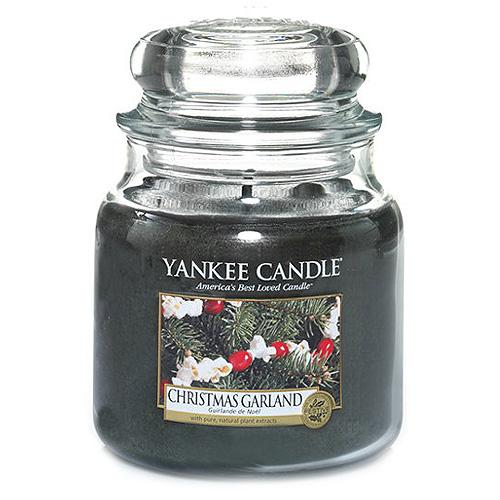 Svíčka ve skleněné dóze Yankee Candle Vánoční věnec, 410 g