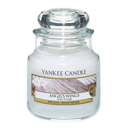 Svíčka ve skleněné dóze Yankee Candle Andělská křídla, 104 g