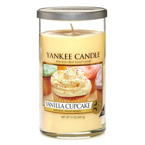 Svíčka ve skleněném válci Yankee Candle Vanilkový košíček, 340 g