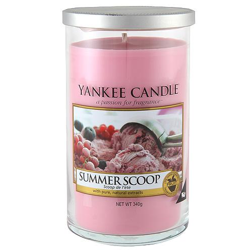 Svíčka ve skleněném válci Yankee Candle Kopeček letní zmrzliny, 340 g